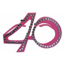 Bril 40 Jaar Roze (D5-3-5)