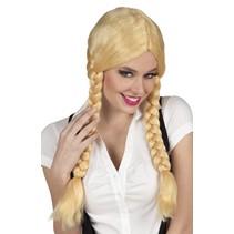 Vlechten Pruik Blond (K13-4-2)