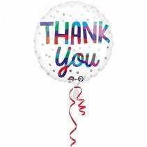Helium Ballon Bedankt 43cm leeg