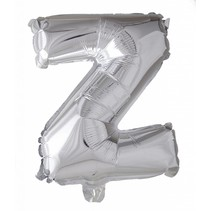 Folie Ballon Letter Z Zilver XL 86cm leeg