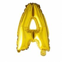 Folie Ballon Letter A Goud XL 86cm leeg