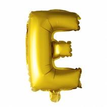Folie Ballon Letter E Goud XL 86cm leeg