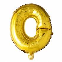 Folie Ballon Letter O Goud XL 86cm leeg