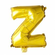 Folie Ballon Letter Z Goud XL 86cm leeg