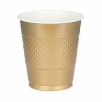 Gouden Bekers Plastic 355ml 10 stuks