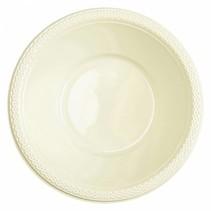 Ivoorkleur Tafelbakjes Plastic 335ml 10 stuks