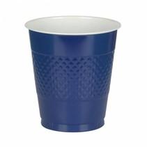 Donkerblauwe Bekers Plastic 355ml 10 stuks (J12-3-5)