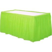 Lime Groen Tafelrok Plastic 426x73cm