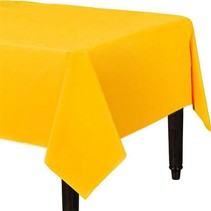 Geel Tafelkleed Plastic 274x137cm (J17-6-6)