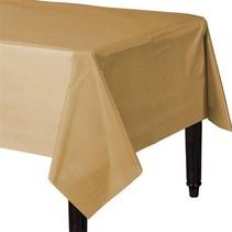 Goud Tafelkleed Plastic 274x137cm