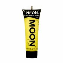 Body Paint Geel Glitter Neon UV 12ml (K8-3-11)