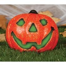 Halloween Pompoen met licht 17cm