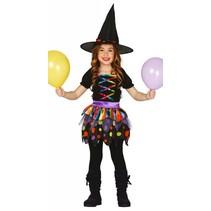 Halloween Kostuum Kind Heks Regenboog (L5-2-8)