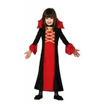 Halloween Kostuum Kind Vampier Meisje Rood (L5-3-4)