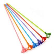 Ballonstokjes Gekleurd met houders 40cm 10 stuks