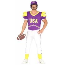 American Football Kostuum Paars