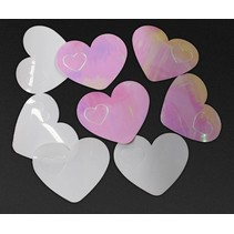 Hartjes Confetti Wit & Roze 14 gram