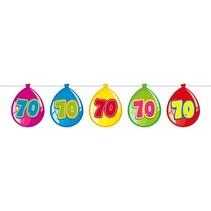 Slingers 70 Jaar Ballonnen 10 meter
