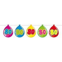 Slingers 80 Jaar Ballonnen 10 meter