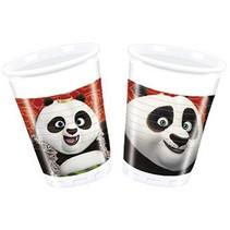 Kung Fu Panda Bekers 200ml 8 stuks (F8-2-2)
