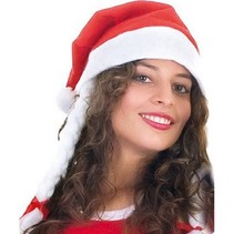 Kerstmuts met vlechten