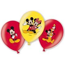 Micky Mouse Ballonnen Deluxe 28cm 6 stuks