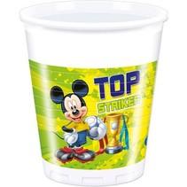 Mickey Mouse Bekers Versiering 200ml 8 stuks