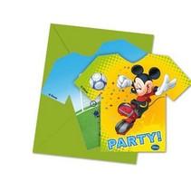 Mickey Mouse Uitnodigingen 6 stuks (E16-3-2)