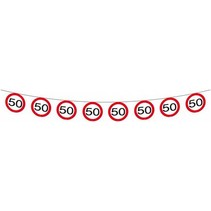 Slingers 50 Jaar Verkeersbord 12 meter (C7-3-4)