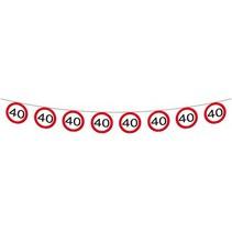 Slingers 40 Jaar Verkeersbord 12 meter (D6-5-2)