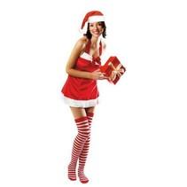 Kerstvrouw Jurkje met kousen S/M
