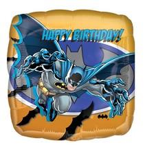 Batman Helium Ballon Happy Birthday 45cm leeg