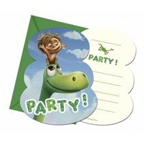 The Good Dinosaur Uitnodigingen 6 stuks