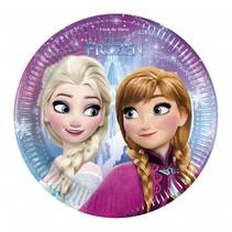 Frozen Gebaksbordjes Lights 20cm 8 stuks (E5-8-2)
