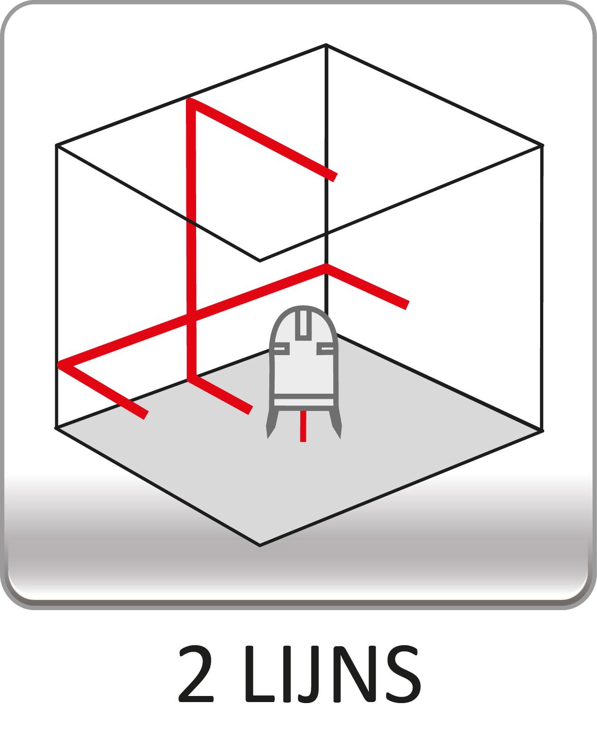 2 lijns kruislaser