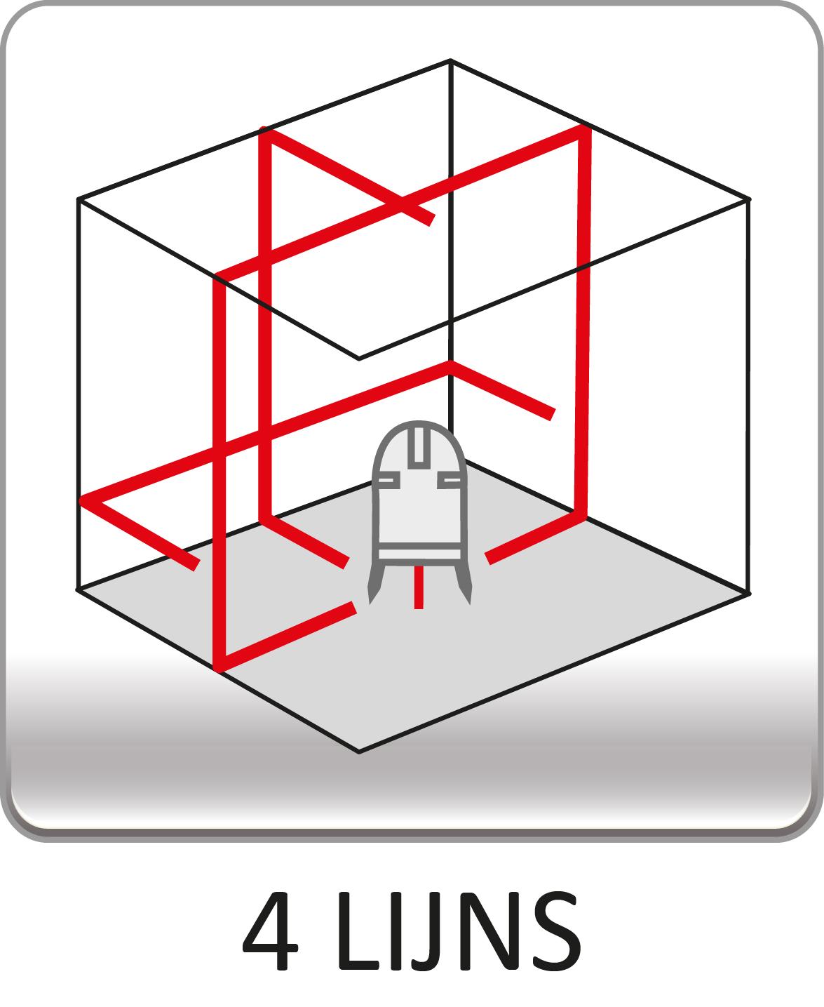4 lijns kruislijnlaser