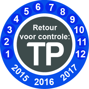 Calibratie sticker