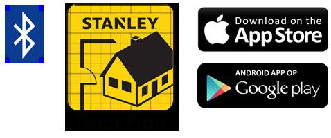 Floor Plan app voor Stanley afstandsmeters