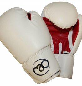 FITNESS MAD Women PVC Sparring Gloves Kick- Bokshandschoenen Woman Synthetish leer 8oz Wit Rood