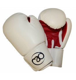 FITNESS MAD Women PVC Sparring Gloves Kick- Bokshandschoenen Woman Synthetish leer 8oz Wit Rood