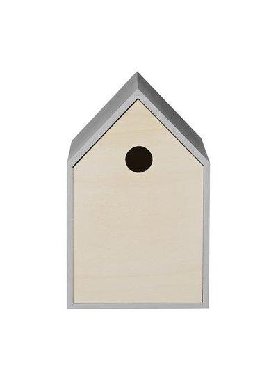 Bloomingville Vogelhuisje, Hout / Grijs - Bloomingville