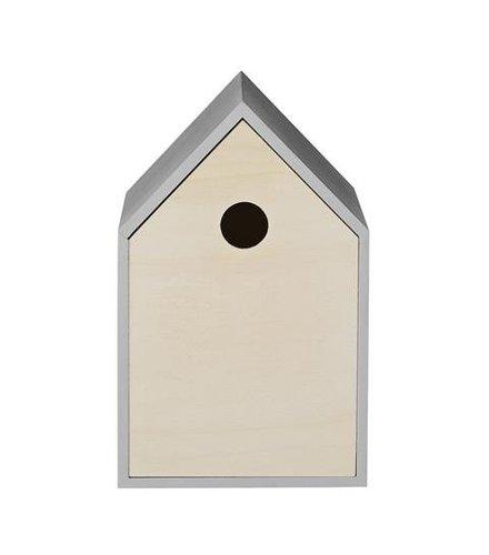 Bloomingville Vogelhuisje, Hout / Grijs