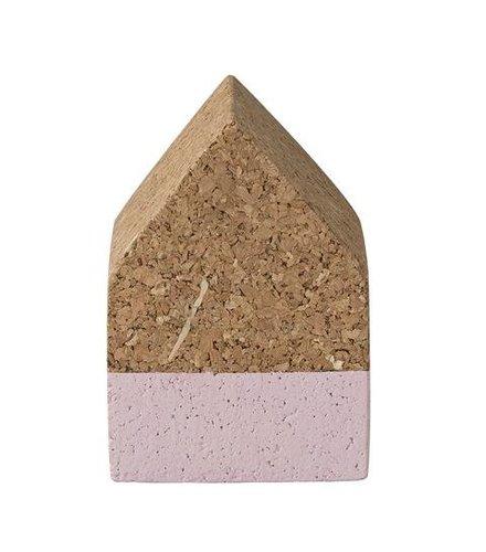 Bloomingville Huisje kurk, roze detail