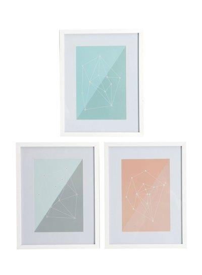 House Doctor Frame Molecules White / Pastel
