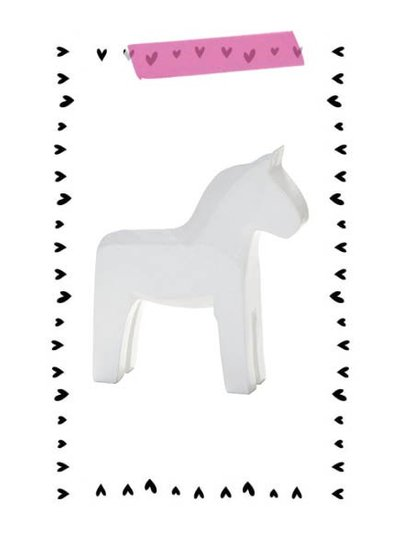 Serholt Sweden Swedish horse white (SMALL) - Serholt Sweden