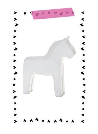 Serholt Sweden Zweeds paardje wit (SMALL) - Serholt Sweden