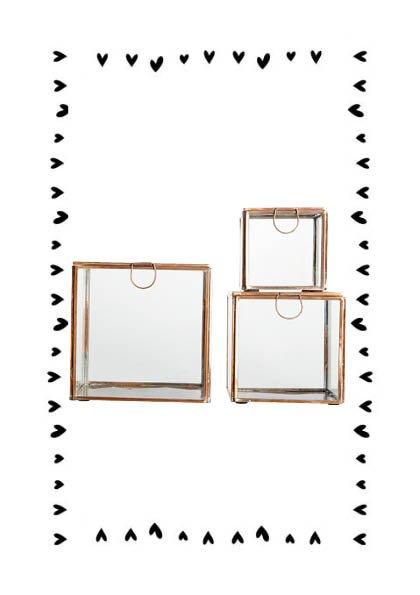 house doctor storage box 3 sizes copper set 3 styling co. Black Bedroom Furniture Sets. Home Design Ideas