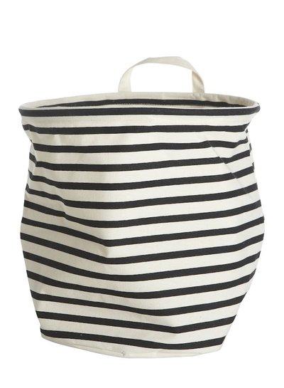 House Doctor Laundrybag Black & White stripe (SMALL)