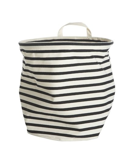 House Doctor Laundrybag Black & White stripe (SMALL)