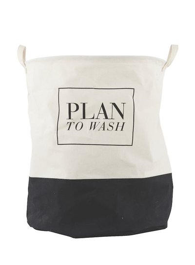 House Doctor Laundry basket black & white | Plan To Wash